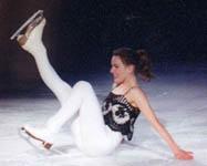 For take ice skater shows vagina
